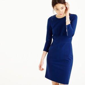 J Crew zip-back structured knit dress 0